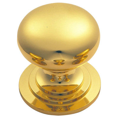 Victorian knob (one piece), Ø 38 mm, polished brass