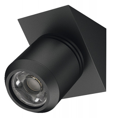 LED Spotlight 350mA/1W, 44x33 mm, IP20, Loox LED 4013, black, daylight white 6000 K