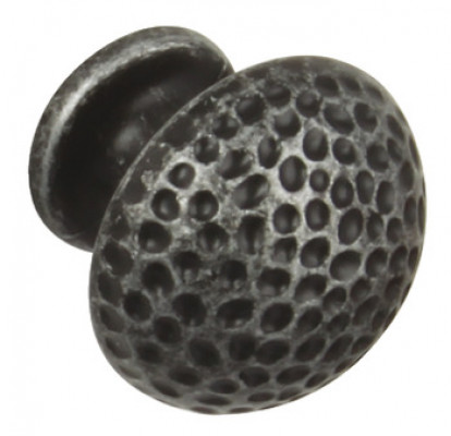 Knob, cast iron, Ø 32 mm, polka, antique pewter