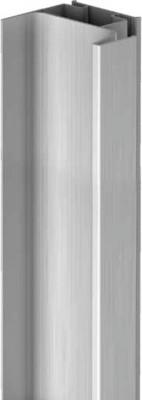 End profile, vertical fixing between cabinet & door, Gola system E, L=2.40 m, bronze