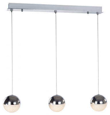 Ceiling bar pendant, adjustable, IP20, 3 Light, LED, Eclipse, mains voltage, chrome