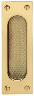 Pull handle, flush, 120x40 mm, brass, FSB, suitable for sliding timber doors, polished
