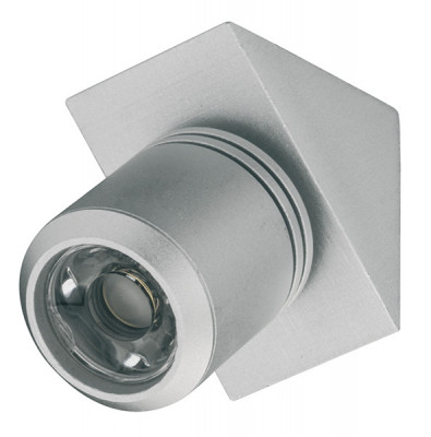 LED Spotlight 350mA/1W, 44x33 mm, IP20, Loox LED 4013, silver, cool white 4000 K
