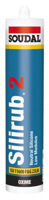 Silicone sealant, low modulus, tube 300 ml, silirub 2, white