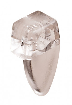 Mirror clip, oval shape, transparent