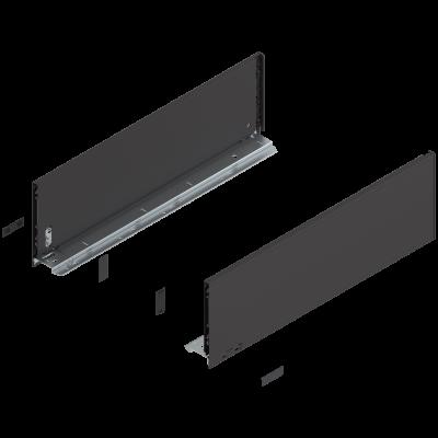 LEGRABOX pure drawer side, height C (177 mm), NL=550 mm, left+right, terra black