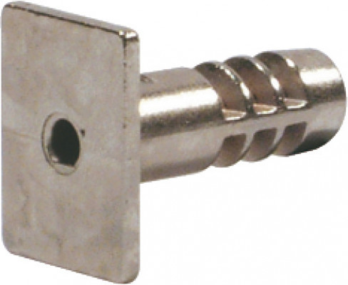 Locking bolt, for furniture lock case, zinc alloy, nickel
