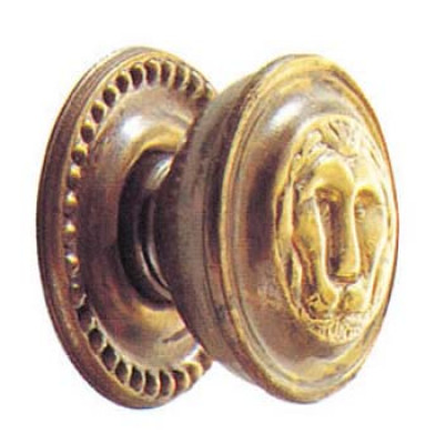 Knob, 32 mm, antique brass