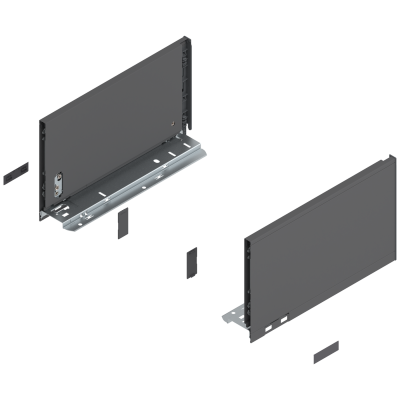 LEGRABOX pure drawer side, height C (177 mm), NL=300 mm, left+right, orion grey