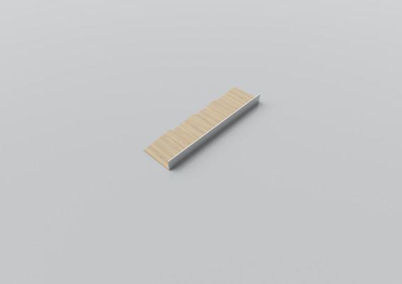 Cutlery divider, W=100 mm, D=472 mm, oak