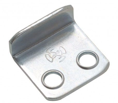 Two hole mirror clip, 17 mm, zinc