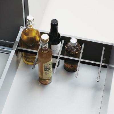 SPIDER bottle rack partition for wooden back, D=500 mm, CW=275 mm & above, PEKA,anthracite