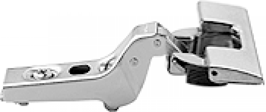 CLIP hinge 100°, INSERTA, 18mm cranked steel boss, NP