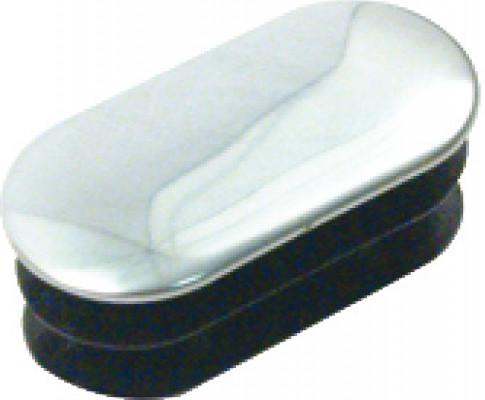Oval end cap, push fit, plastic, pairs, chrome