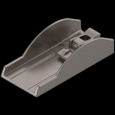 CRISTALLO adhesion plate, glue-on, rectangular, nickel