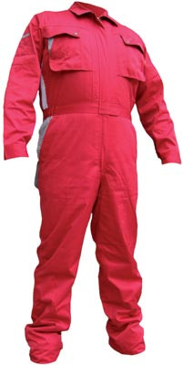 Boiler suit, premium, 36 to 48 inch, 31in length, colour: red, size: 42in