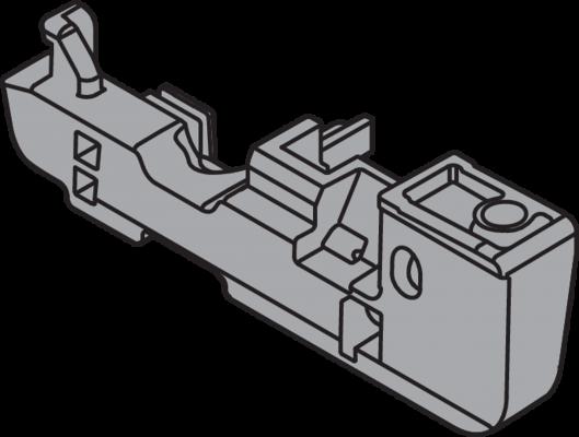 Depth Adjustment for MOVENTO Locking device, left, dust grey