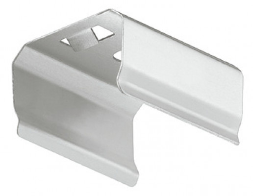 Mounting brackets, to suit profiles flexible strip lights, standard brackets, silver