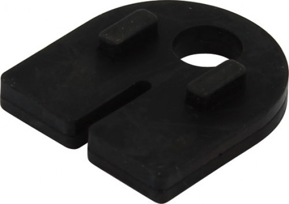Rubber lining, for glass thickness 6 mm, for use with glass holder, black