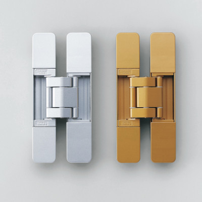 HES 3D concealed hinge, 160 mm max weight 2 pcs 45 kg with cover caps, gold