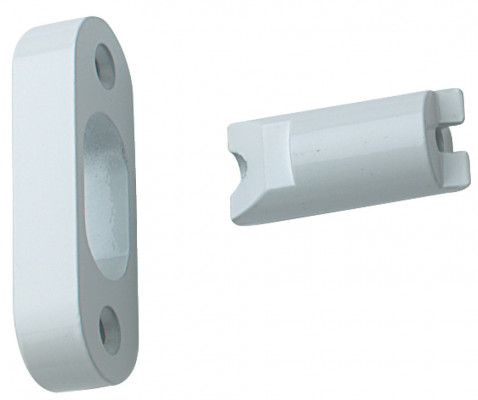Hinge bolt, for external outward opening doors, height 70 mm, coated steel, white