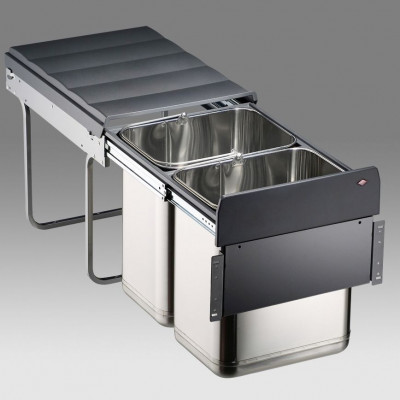 Master pull out recycler, CW=400 mm, 40 litre, WESCO, stainless steel