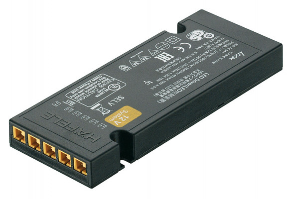 LED driver 0.15W/12V, for 1-6 light, without mains lead, rated IP20, LOOX, black