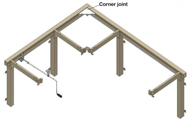 Flexi Corner Set St Wt Paint 650-950mm