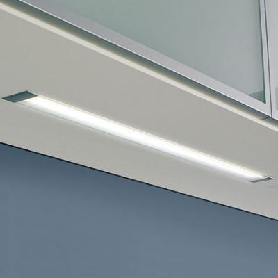 240V/11W 430mm T2 Alu Flush Strip Light
