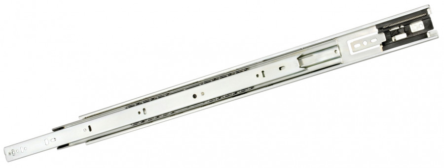 Ball bearing touch drawer runner, full extension 44 kg, L=650 mm, Accuride 3832TR, white