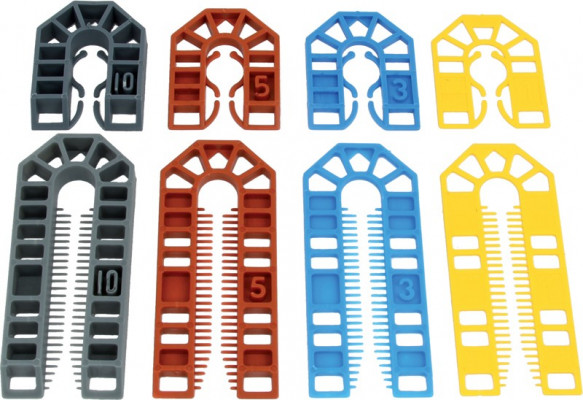 Packing shim, set of 100 or 210, light & heavy duty, packs of shims, small pack