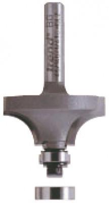 Rounding cutter, 2 ball bearing guides, shaft ›1/4in, radius 12.7 mm, ›38 mm, length 19 mm