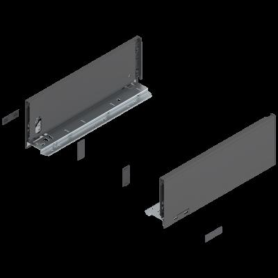 LEGRABOX drawer side, height K (128 mm), NL=350 mm, left+right, orion grey