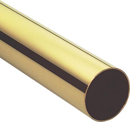 Wardrobe rail, length 2500 mm, 25 mm, walll thickness 1.2 mm, polished nickel