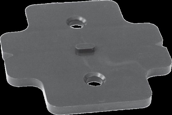 Plastic cruciform hinge plate spacer, 9mm, Grey