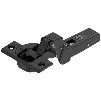 CLIP top BLUMOTION profile door hinge 95°, INSET applications, boss: SCREW-ON, onyx black