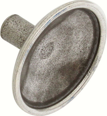 Knob, pewter, › 43 mm, lamont, pewter