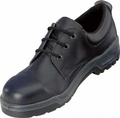 Leather tie work shoe, size 10, black