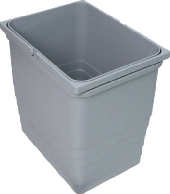Waste bin, plastic, One2Five, capacity 8 litres, 153x230x310 mm, grey