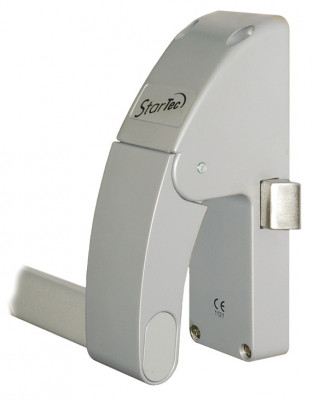 Push bar panic latch, doors up to 1300 mm wide, STARTEC, right, silver powder coated