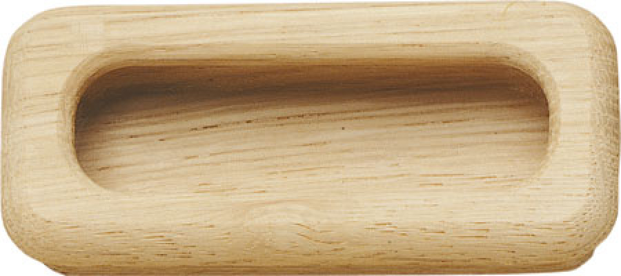 Inset handle, unfinished wood, 94 mm, oak