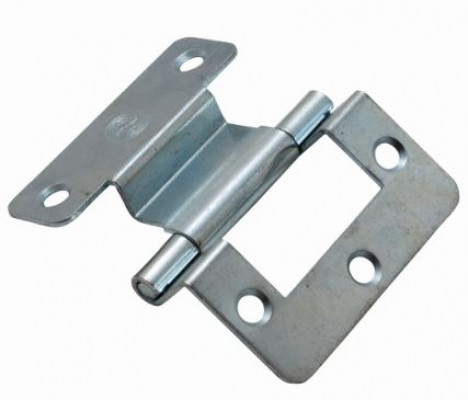 Double cranked hinge with plain pin, 9x8 mm, bronze