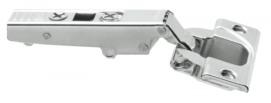 CLIP hinge 100°, OVERLAY, boss: screw-on, NP