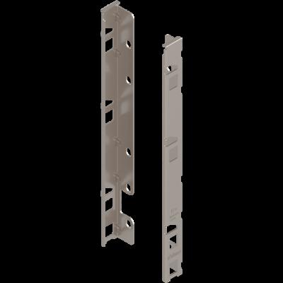 LEGRABOX back fixings bracket, height F (257 mm), left+right, nickel
