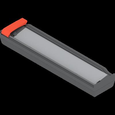 ORGA-LINE foil cutter for aluminium foil (with foil), grey/orange