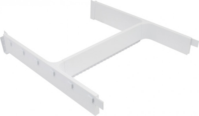 Storage system for under sink drawers, h frame set, ninka banio, light grey