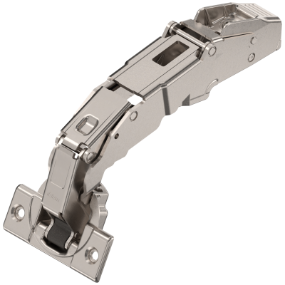 CLIP top wide angle hinge 155°, dual applications, boss: SCREW-ON, nickel
