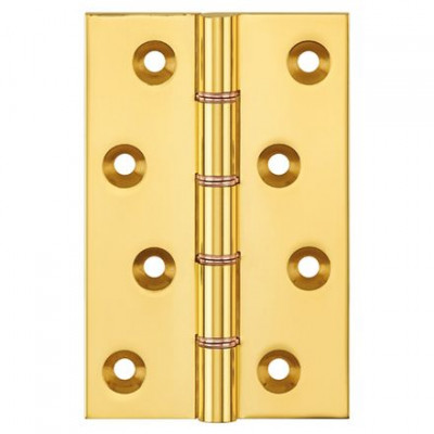Butt hinge (double washered), brass, 100x65x3.5mm, with screws, bronze