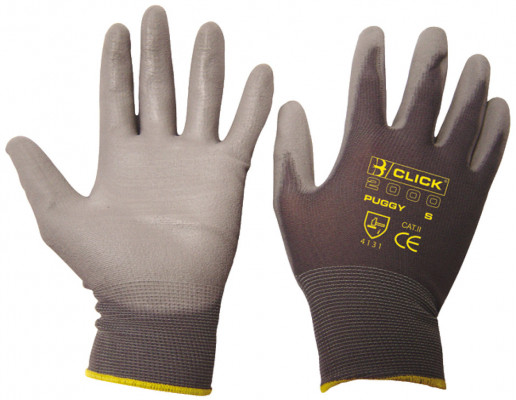 Gloves, PU coated, size L