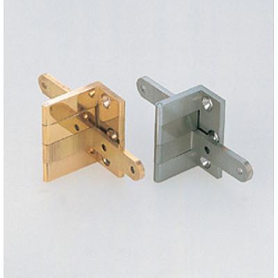 Overlay door angle hinge polished brass